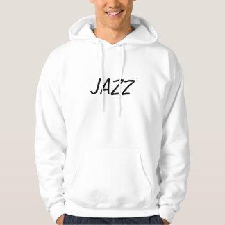 NextJazz.com著人のジャズフード付きスウェットシャツ(フリースタイル) パーカ