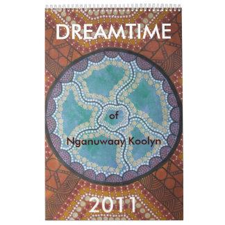 Nganuwaay Koolynのカレンダー2011年のDreamtime カレンダー
