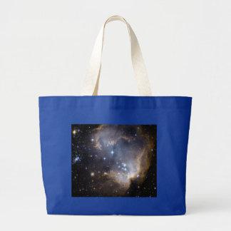 NGC 602の明るい星NASA ラージトートバッグ