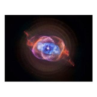 NGC 6543: キャッツ・アイの星雲 ポストカード
