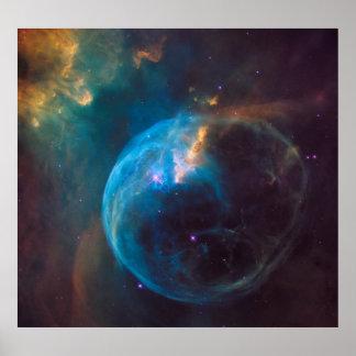 NGC 7635 -泡星雲 ポスター