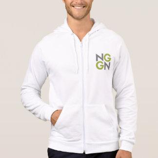 NGGNはフード付きスウェットシャツのファスナーを締めます パーカ
