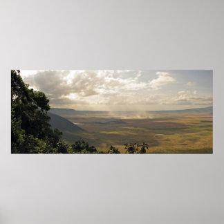 Ngorongoroの噴火口、タンザニア ポスター