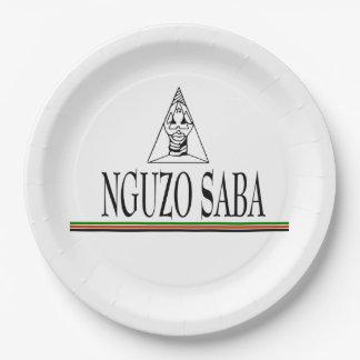 Nguzo Saba Kwanzaaのパーティーの紙皿 ペーパープレート