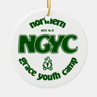 NGYCの緑のロゴ セラミックオーナメント