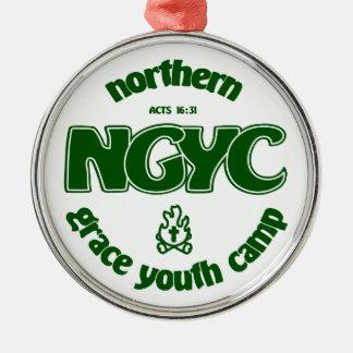NGYCの緑のロゴ メタルオーナメント