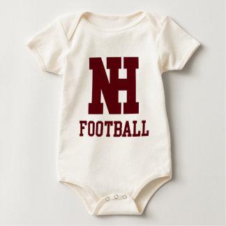 NHのフットボール ベビーボディスーツ