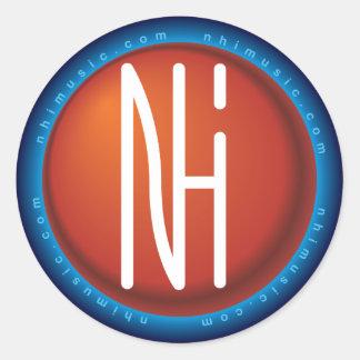 [NHI]ステッカー: ロゴ ラウンドシール