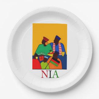 NIA Kwanzaaのパーティーの紙皿 ペーパープレート