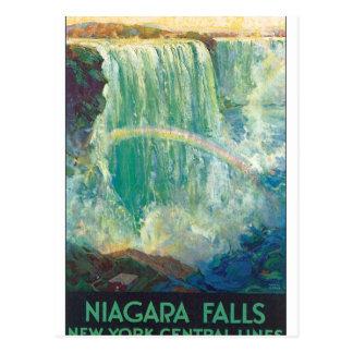 Niagraの滝のヴィンテージ旅行ポスターアートワーク ポストカード