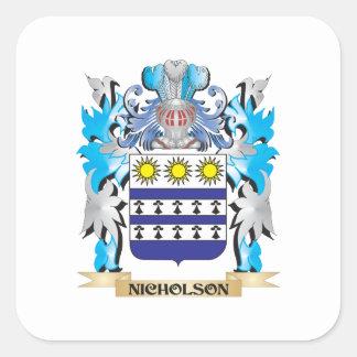 Nicholsonの紋章付き外衣-家紋 スクエアシール