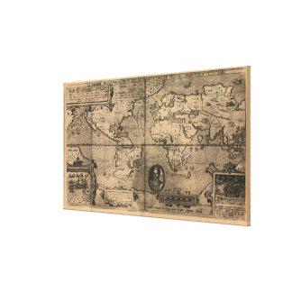 Nicola van Sype著1581匹のアンティークの世界地図 キャンバスプリント