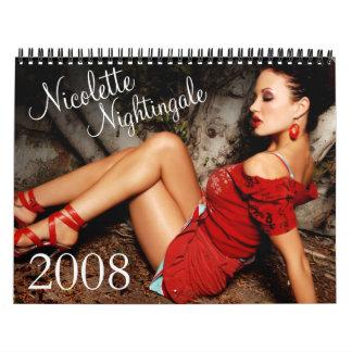 Nicoletteのナイチンゲール2008のカレンダー カレンダー