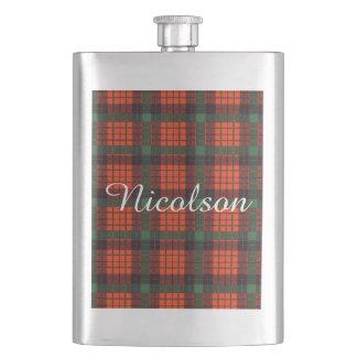 Nicolsonの一族の格子縞のスコットランド人のタータンチェック フラスク