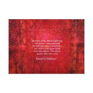 Nietzscheの地獄の引用文 キャンバスプリント