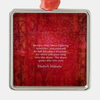 Nietzscheの地獄の引用文 メタルオーナメント