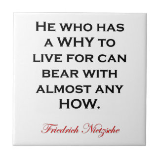 Nietzscheの引用文-いかに耐えて下さい タイル