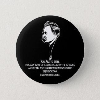 Nietzsche芸術1 DKT 5.7cm 丸型バッジ