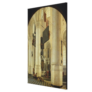 Nieuwe Kerkのインテリア キャンバスプリント