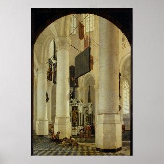 Nieuwe Kerkのインテリア ポスター