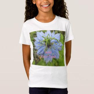 Nigellaの青緑の咲く花 Tシャツ