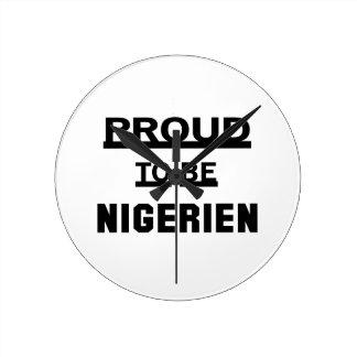 Nigerienがあること誇りを持った ラウンド壁時計