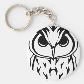 night owl ベーシック丸型缶キーホルダー