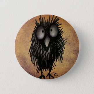 Night Owl Art for Owl Lovers 5.7cm 丸型バッジ