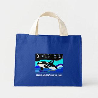 Nightimeの星のシャチのクジラは、調べ、のために…達します ミニトートバッグ