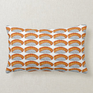 Nigiriのオレンジサーモンピンクの寿司の日本のな食糧枕 ランバークッション