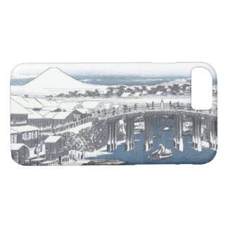 Nihon橋、東京の日本のな冬の絵画 iPhone 8/7ケース