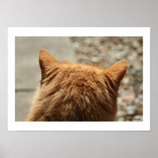 Niki著かわいらしい子猫の耳 ポスター