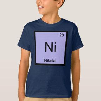 Nikolai一流化学要素の周期表 Tシャツ