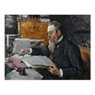 Nikolai Andreyevich Rimsky-Korsakovのポートレート ポストカード