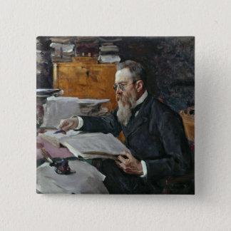 Nikolai Andreyevich Rimsky-Korsakovのポートレート 5.1cm 正方形バッジ
