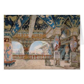 Nikolai Rimsky-Korsakovオペラのためのステージのデザイン カード