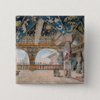 Nikolai Rimsky-Korsakovオペラのためのステージのデザイン 5.1cm 正方形バッジ