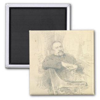 Nikolaj Leskov 1889年のポートレート マグネット