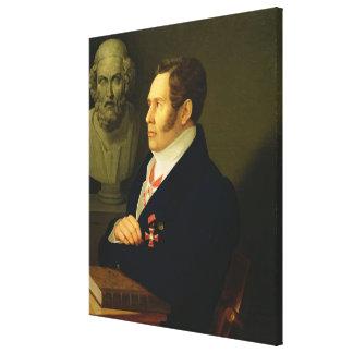 Nikolay Gnedich 1839年のポートレート キャンバスプリント
