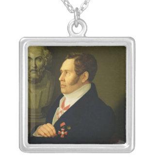 Nikolay Gnedich 1839年のポートレート シルバープレートネックレス