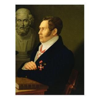 Nikolay Gnedich 1839年のポートレート ポストカード