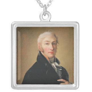 Nikolay Mikhaylovich Karamzin 1805年のポートレート シルバープレートネックレス