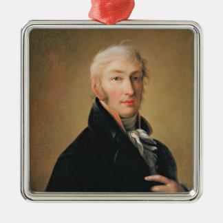 Nikolay Mikhaylovich Karamzin 1805年のポートレート メタルオーナメント