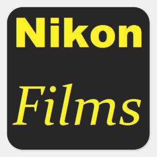 Nikonはステッカーを撮影します スクエアシール