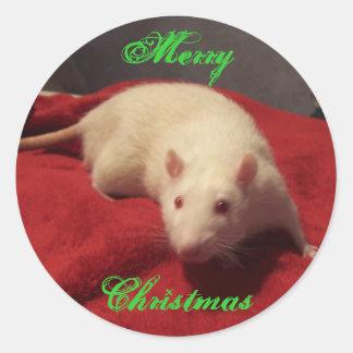 Niles -クリスマスのステッカー ラウンドシール