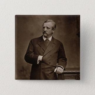 NilsアードルフエリックNordenskjold (1832-1901年)、fr男爵 5.1cm 正方形バッジ