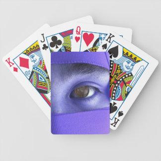NINのトランプの紫色の目 バイスクルトランプ