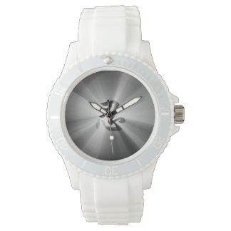 NINの漢字の黒の星の破烈のスポーティで白い腕時計 腕時計