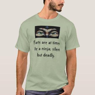 ninja2の屁は忍者のよう時々です; 静か… tシャツ