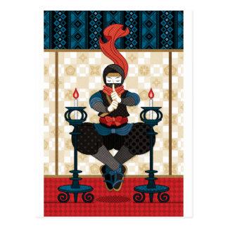 Ninja and candlesticks ポストカード